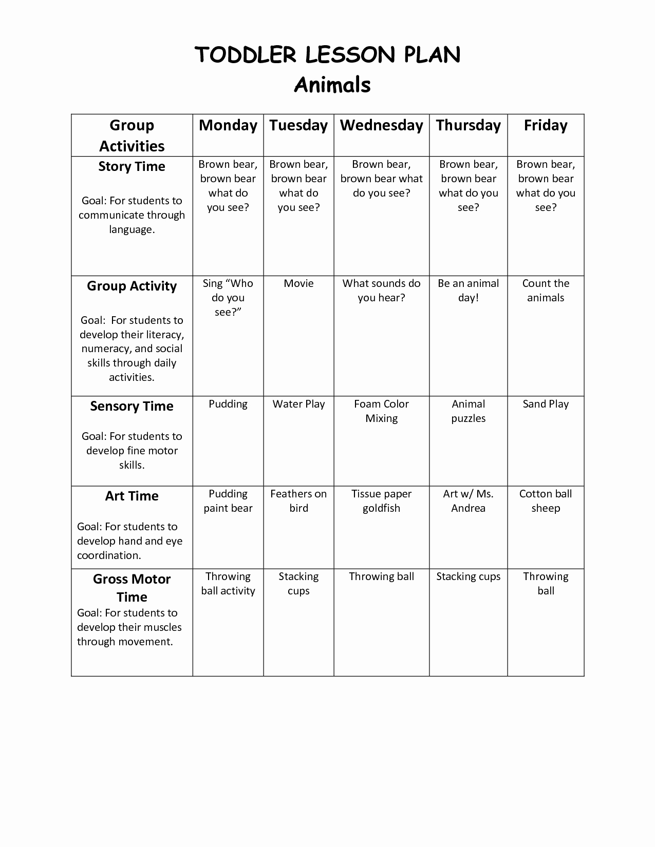 Blank Weekly Lesson Plan Template Best Of Infant Blank Lesson Plan Sheets