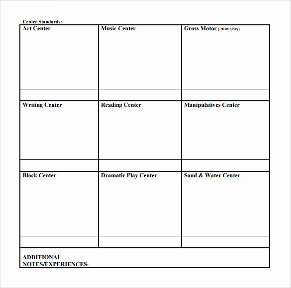 Blank Weekly Lesson Plan Template Inspirational Sample toddler Lesson Plan 9 Example format