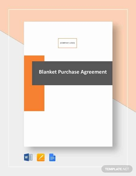 Blanket Purchase Agreement Template Elegant 14 Sample Purchase Agreements Pdf Doc Pages