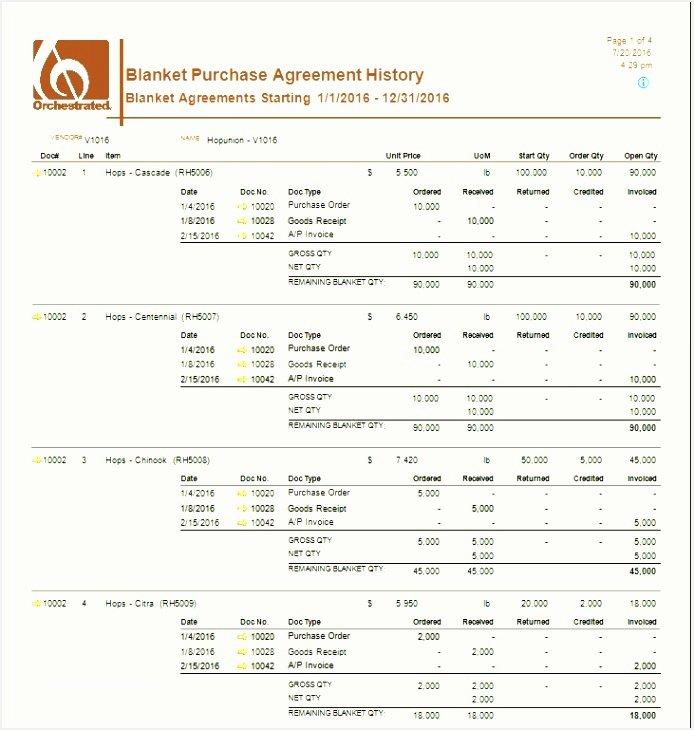Blanket Purchase Agreement Template Elegant 5 Blanket Purchase order Agreement Template
