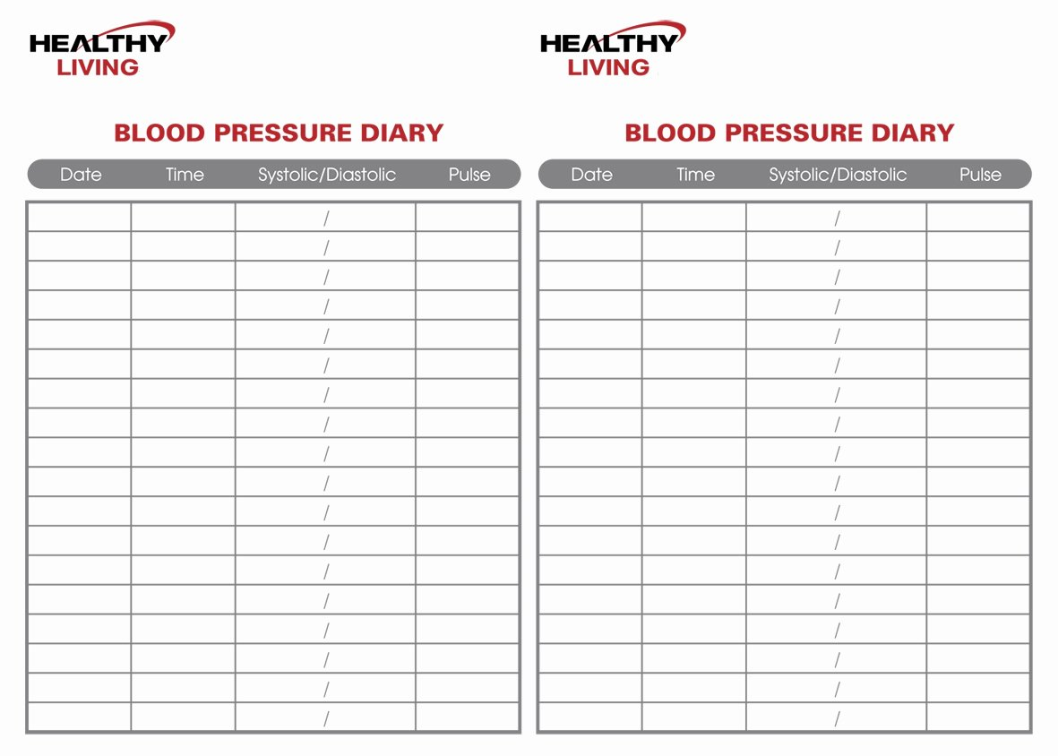 Blood Pressure Charting Template Elegant 19 Blood Pressure Chart Templates Easy to Use for Free