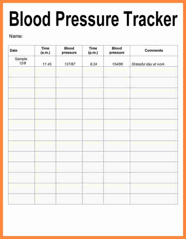 Blood Pressure Charting Template Unique Printable Blood Pressure and Pulse Log