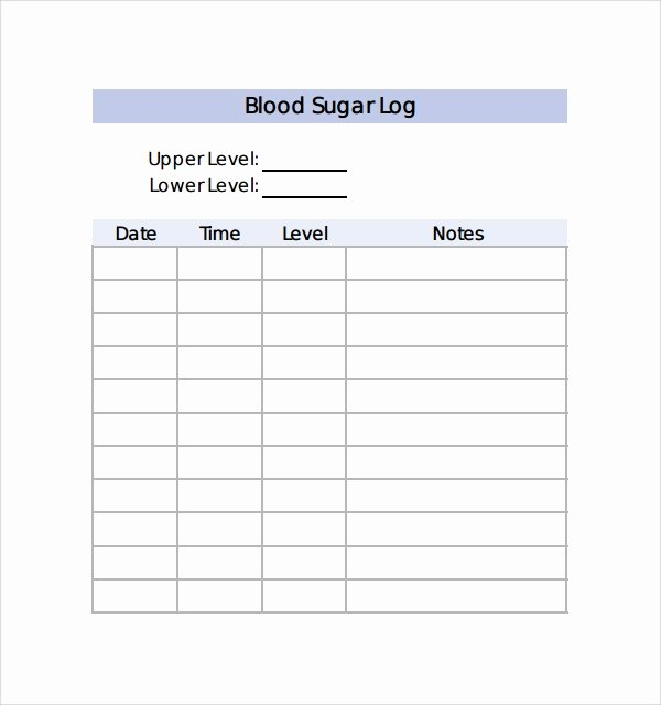 Blood Sugar Log Book Template New Sample Blood Sugar Log Template 8 Free Documents In Pdf