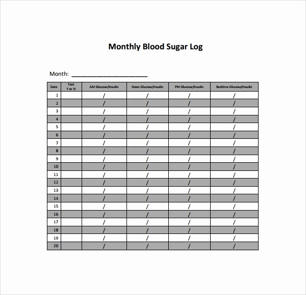 Blood Sugar Log Book Template Unique Sample Blood Sugar Log Template 8 Free Documents In Pdf