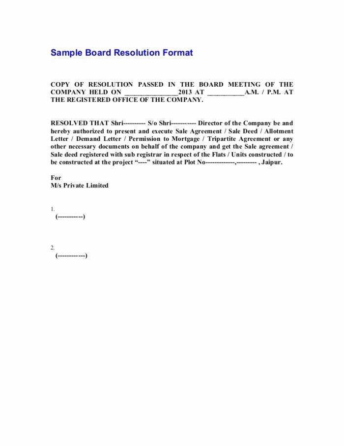 Board Of Directors Resolution Template Beautiful Corporate Board Resolution Sample Philippines Templates