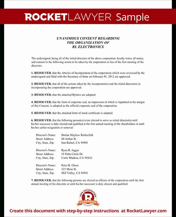 Board Of Directors Resolution Template Inspirational Board Resolution Template