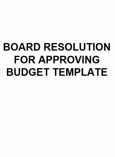 Board Resolution Template Non Profit Unique Ne0171 Board Resolution for Bud Approval Template