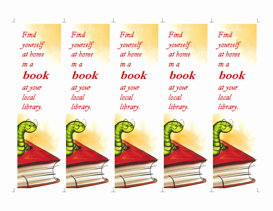 Bookmarks Templates Free Microsoft Word Fresh Library Bookmark Template