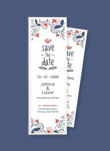 Bookmarks Templates Free Microsoft Word Lovely 11 Save the Date Templates Psd Word Ai Eps