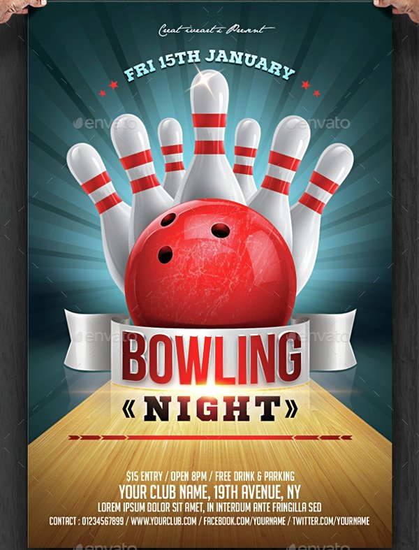 Bowling Flyer Template Free Beautiful 23 Bowling Flyer Psd Vector Eps Jpg Download