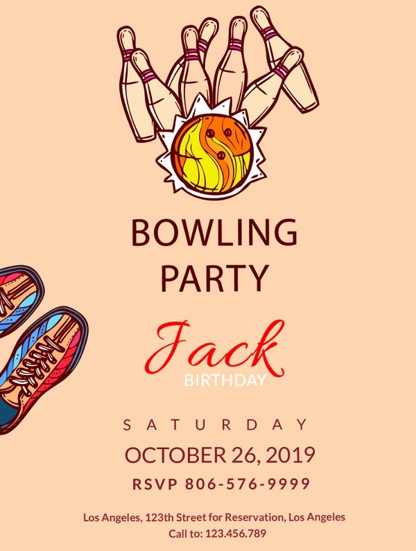 Bowling Invitation Template Free Best Of 24 Outstanding Bowling Invitation Templates & Designs