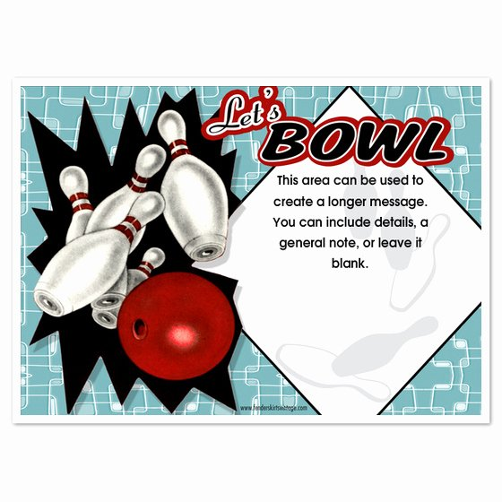 Bowling Invitation Template Free Best Of Retro Bowling Party Invitations Invitations & Cards On