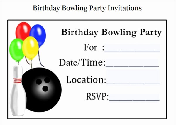 Bowling Invitation Template Free Best Of Sample Bowling Invitation Template 9 Free Documents