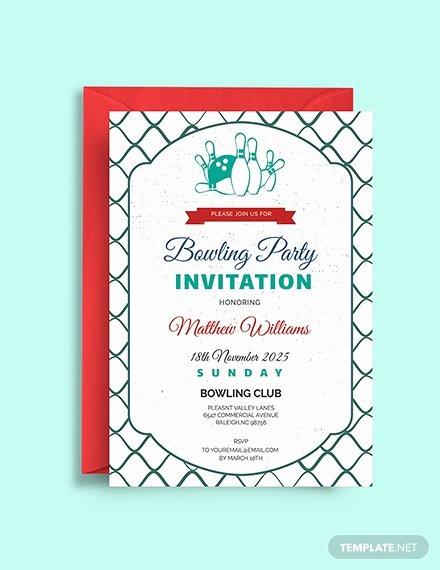 Bowling Invitation Template Free Elegant Free Bowling Birthday Invitation Template Download 508