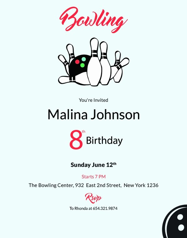 Bowling Invitation Template Free Lovely 24 Outstanding Bowling Invitation Templates & Designs