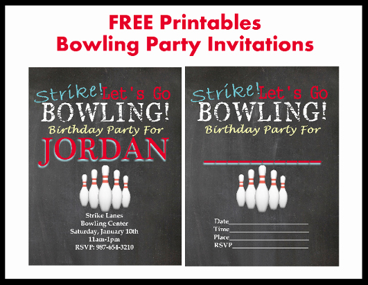 Bowling Invitation Template Free Lovely Bowling
