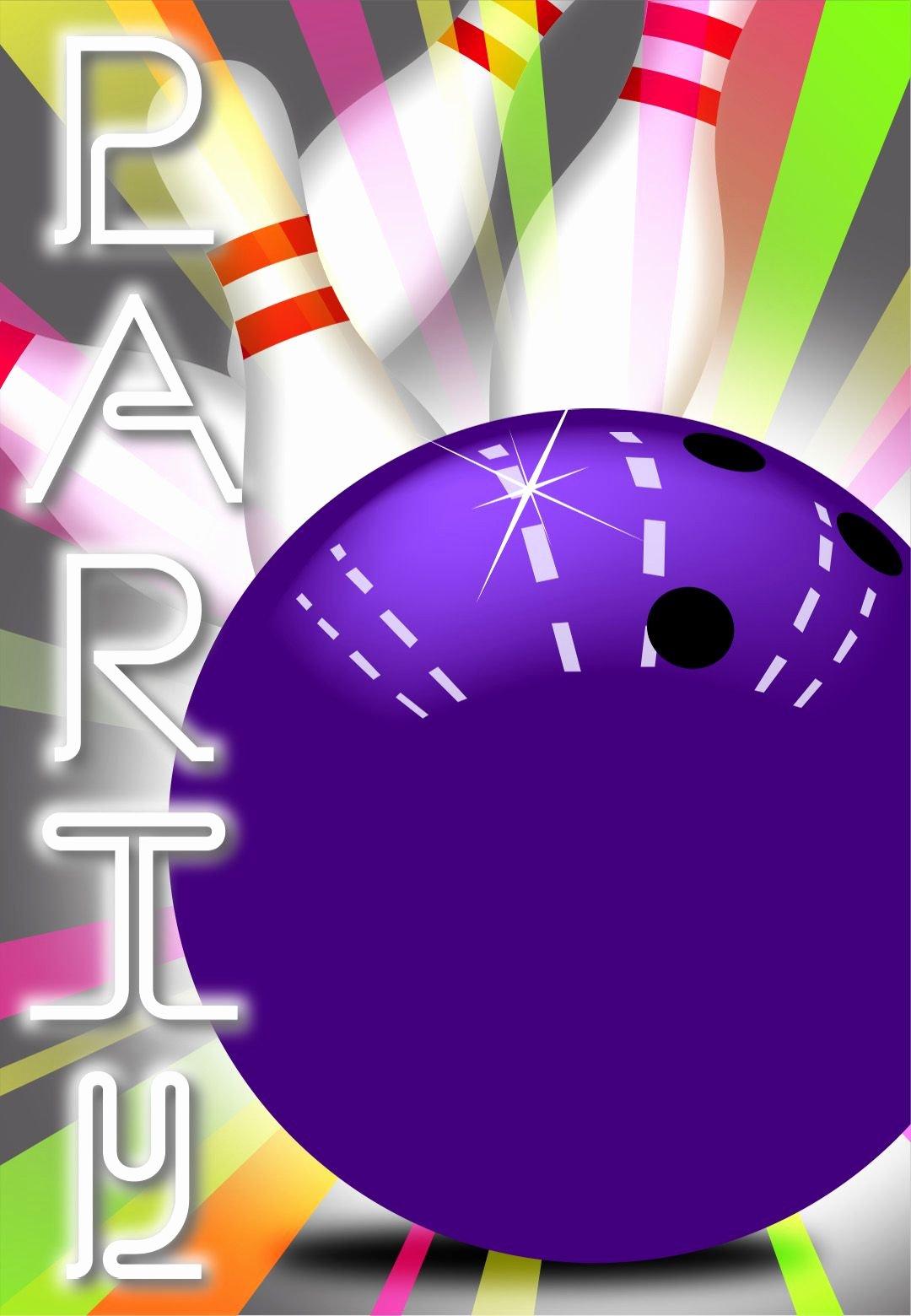 Bowling Invitation Template Free Luxury Strike Bowling Free Printable Birthday Invitation