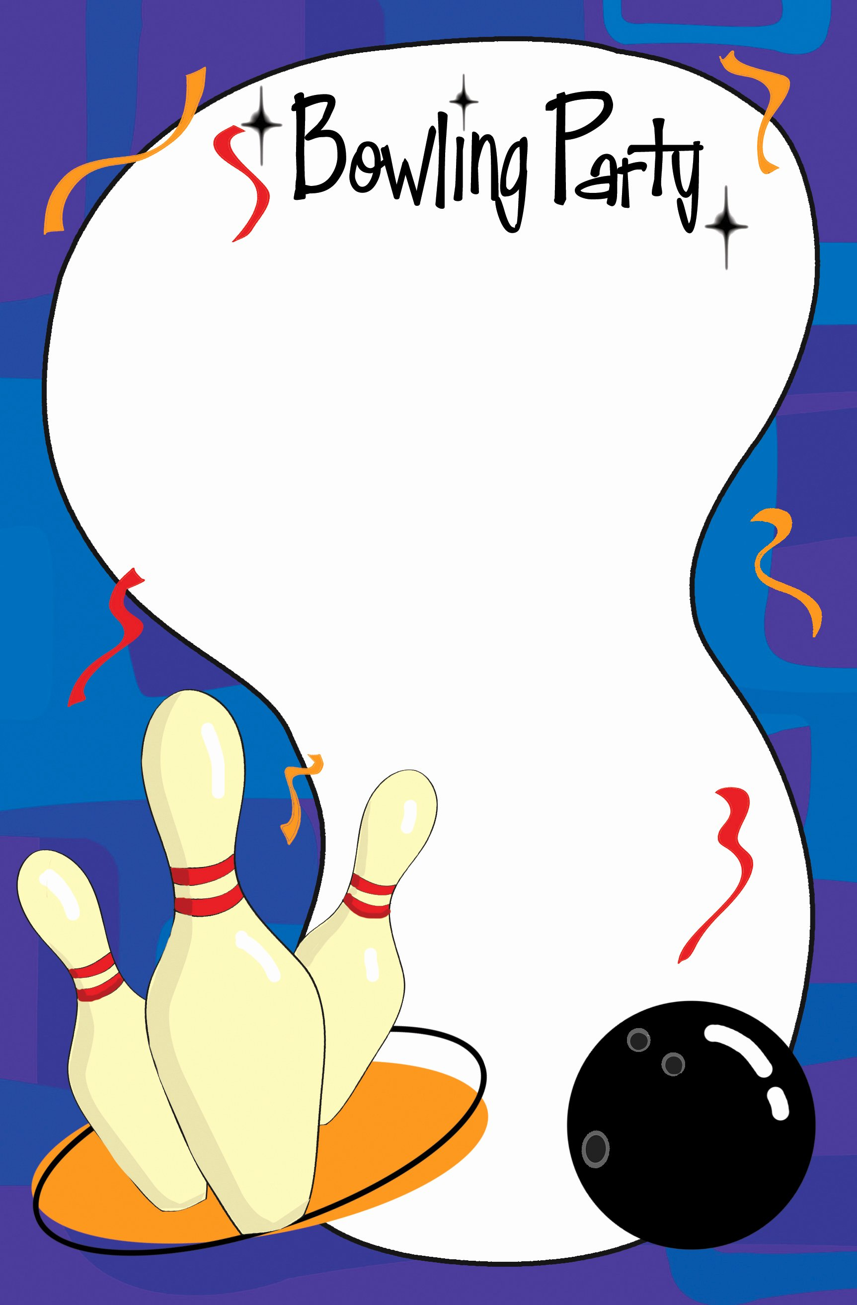 Bowling Invitation Template Free New Bowling Invitation Template Cliparts