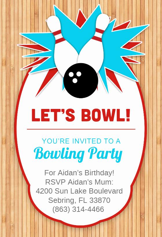 Bowling Invitation Template Free Unique Bowling Party Invitation Template Free