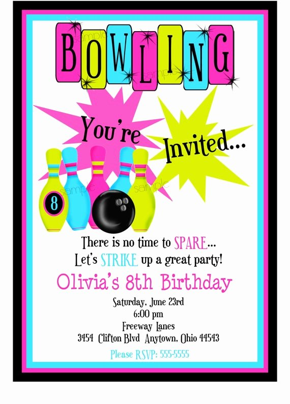 bowling invitations bowling birthday