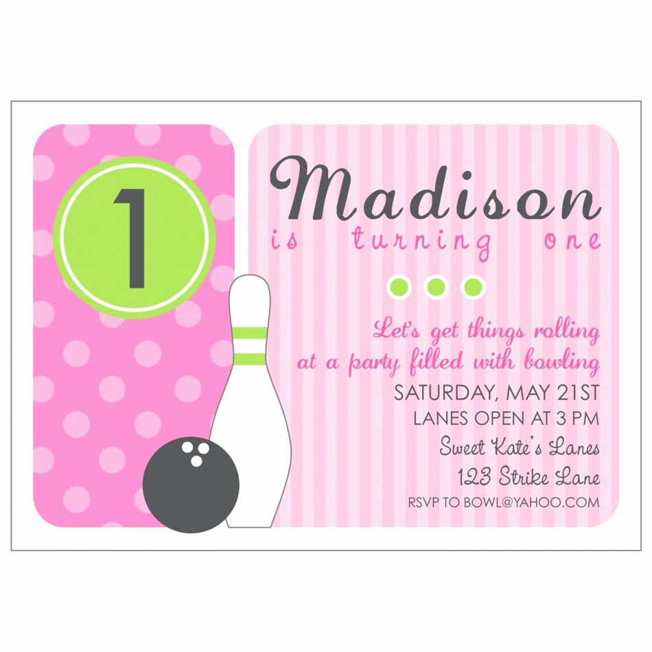 Bowling Party Invitations Templates Elegant Bowling Invitations Printable Free