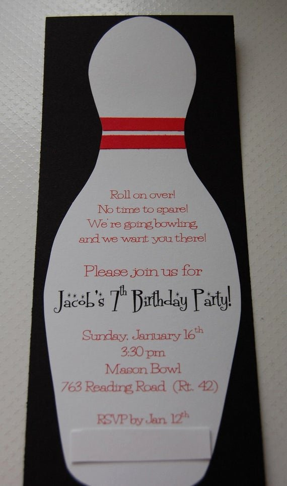 Bowling Party Invitations Templates Fresh Bowling Birthday Party Invitation 12 by Anygoodideas On Etsy