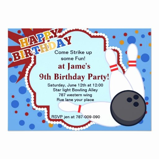 Bowling Party Invitations Templates Fresh Bowling Birthday Party Invitation