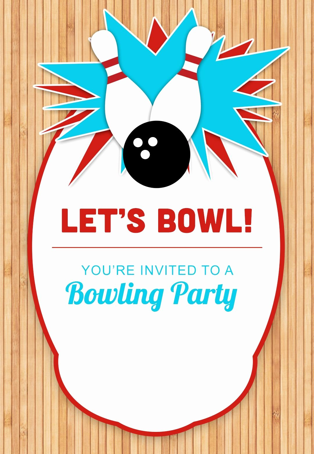 Bowling Party Invitations Templates Lovely Bowling Party Free Printable Birthday Invitation