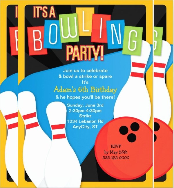 Bowling Party Invitations Templates Luxury 16 Bowling Invitation Templates Psd Vector Eps