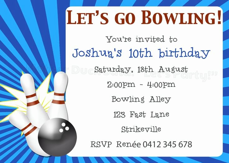 Bowling Party Invitations Templates New 8 Best Images About Sam S Bowling Party On Pinterest