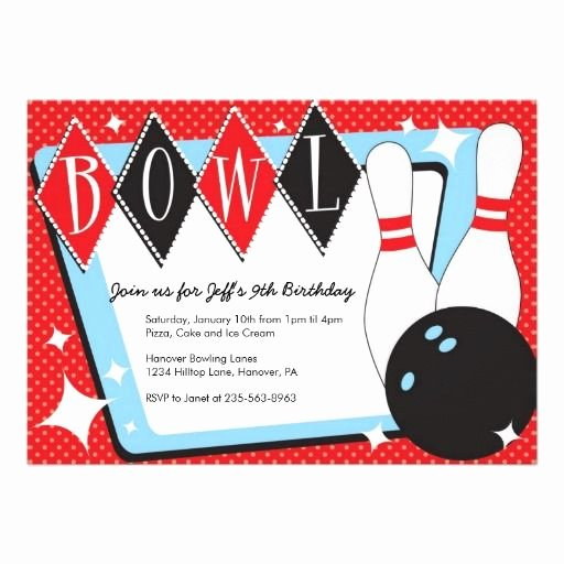 Bowling Party Invitations Templates New Bowling Birthday Party Invitations Zazzle
