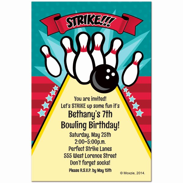 Bowling Party Invitations Templates New Free Printable Bowling Birthday Invitations