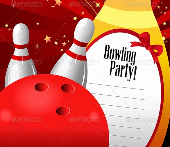 Bowling Party Invitations Templates Unique Bowling Birthday Invitation Templates