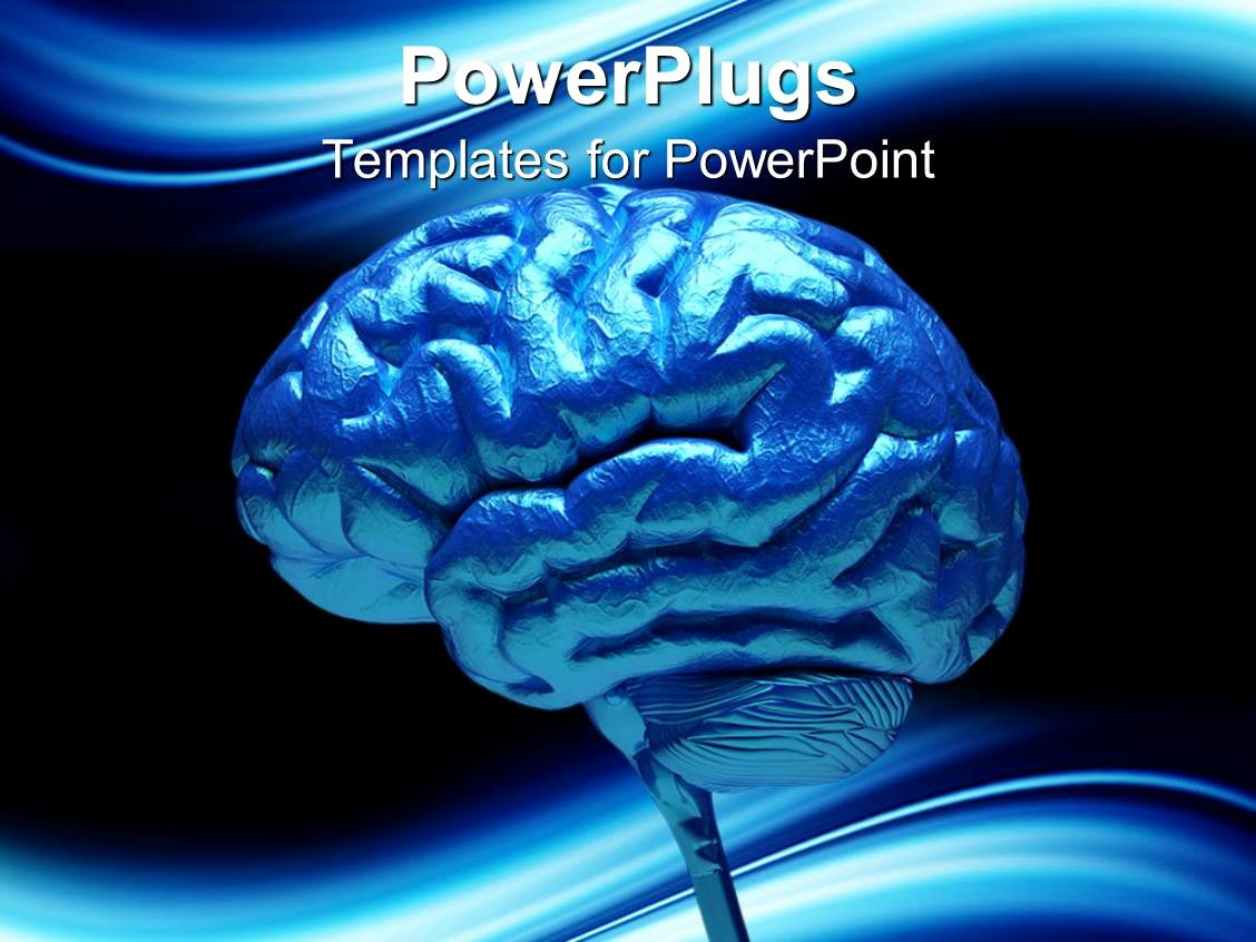 Brain Power Point Templates Best Of Powerpoint Template Close Up Of Blue Human Brain 3712