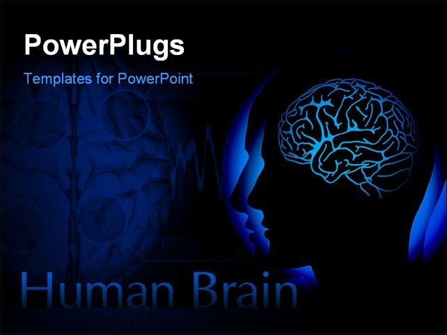 Brain Power Point Templates Elegant Best Powerpoint Template Profile Of Human Head with
