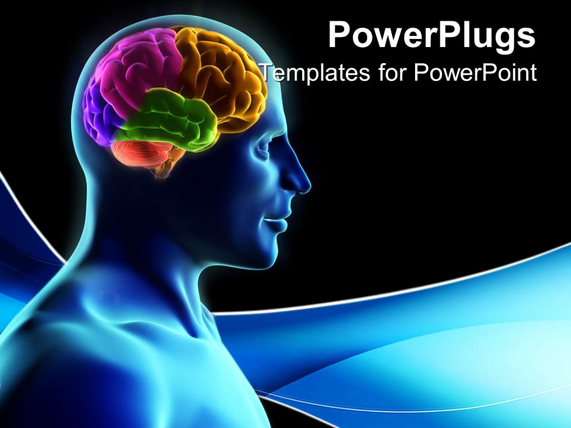 Brain Power Point Templates Fresh Powerpoint Template Human Silhouette with Parts Of the