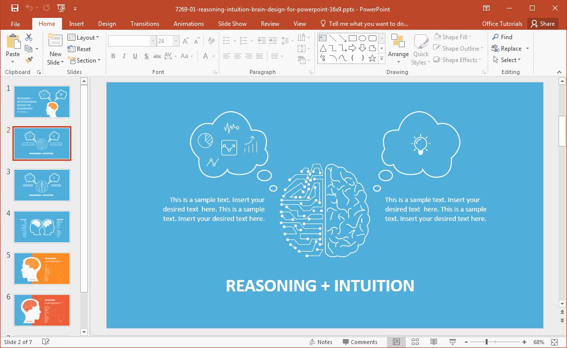Brain Power Point Templates Lovely Left Brain Vs Right Brain Powerpoint Template