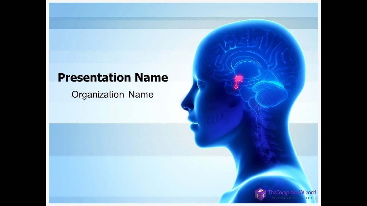 Brain Power Point Templates New Brain Pituitary Gland Powerpoint Template