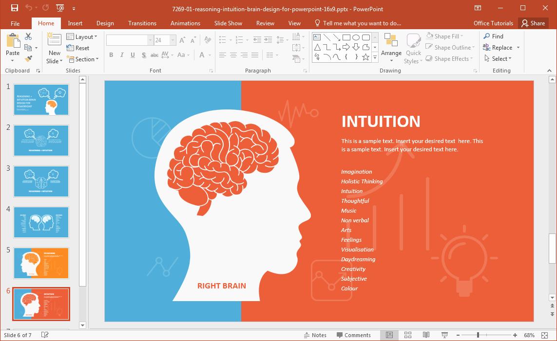 Brain Power Point Templates New Left Brain Vs Right Brain Powerpoint Template