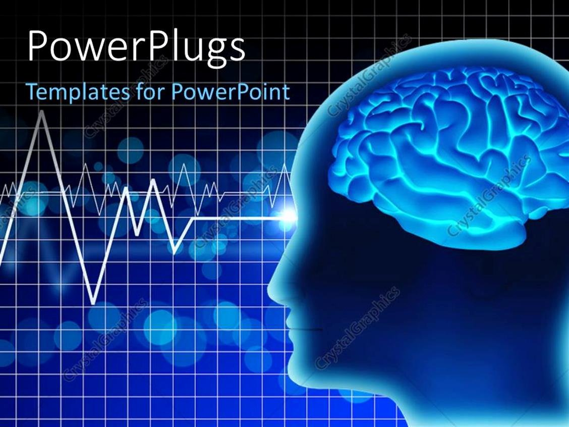 Brain Power Point Templates New Powerpoint Template Human Brain Inside A Head Made In 3d
