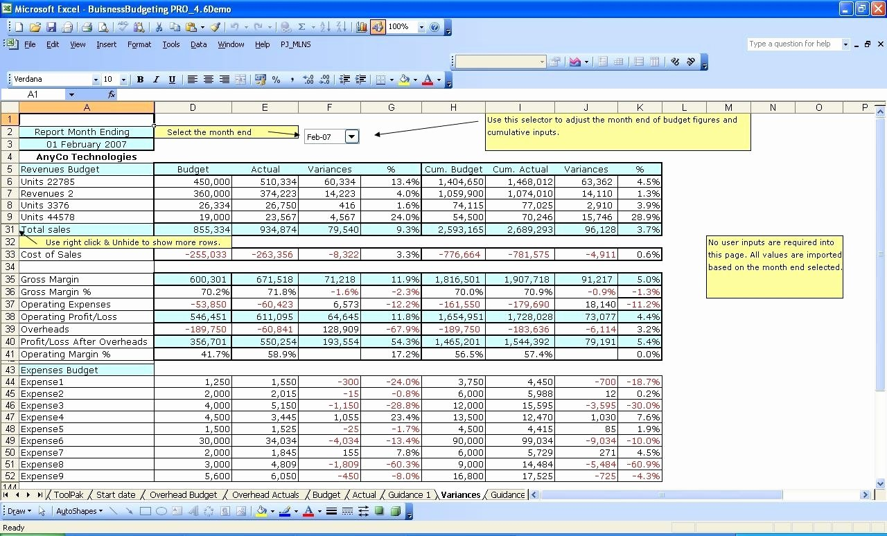 Business Budget Template Excel Inspirational 12 Month Business Bud Template Excel Business
