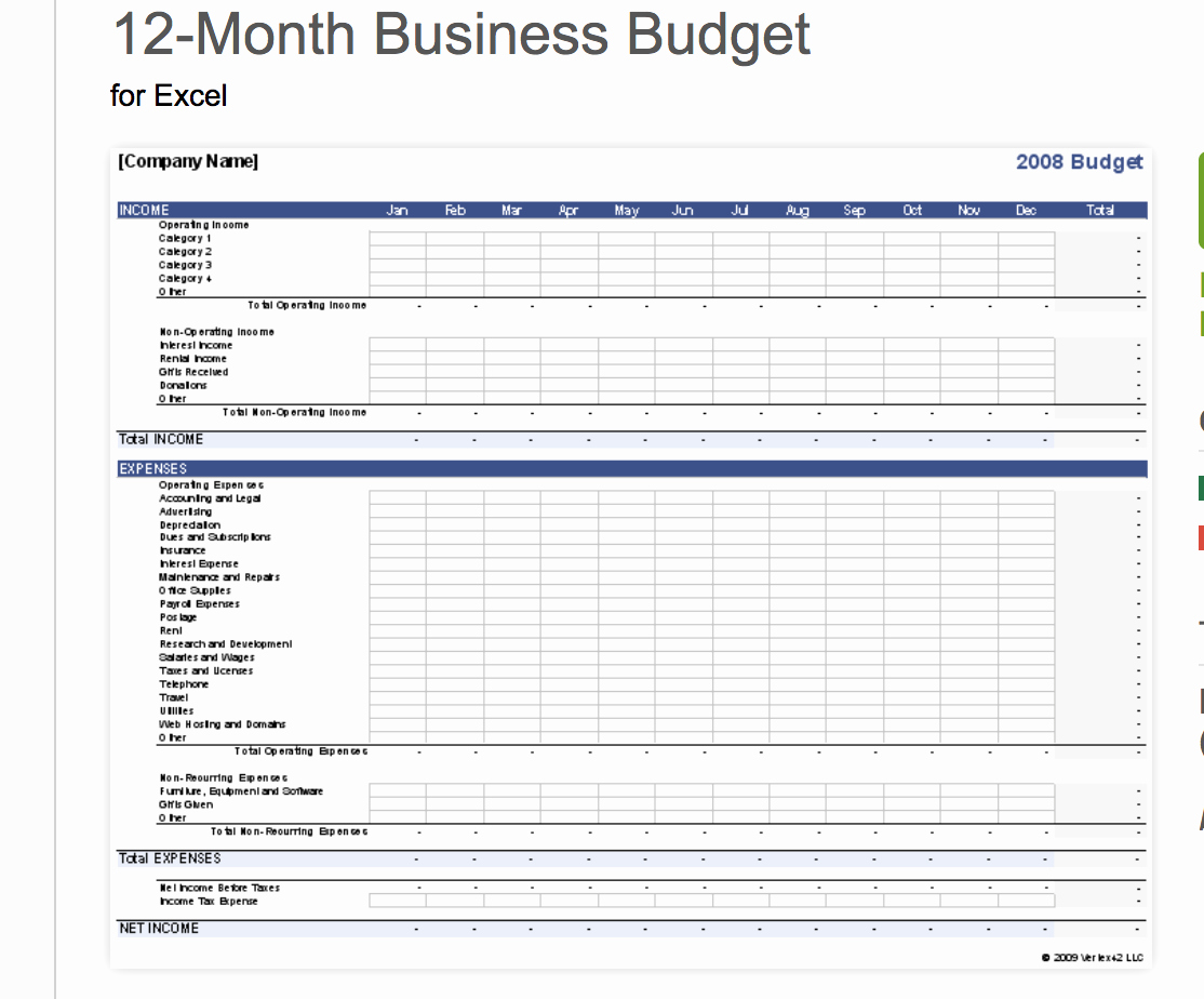 Business Budget Template Excel Lovely 7 Free Small Business Bud Templates