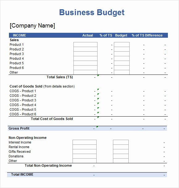 Business Budget Template Excel Lovely Sample Excel Spreadsheet Template 4 Free Documents