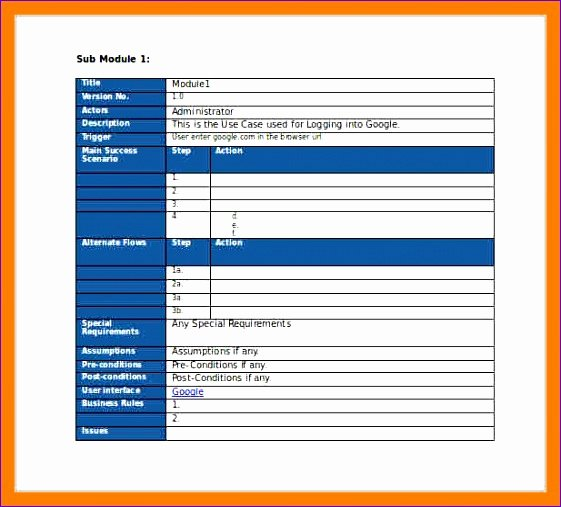 Business Case Template Word Best Of 5 Test Cases Template Excel Exceltemplates Exceltemplates