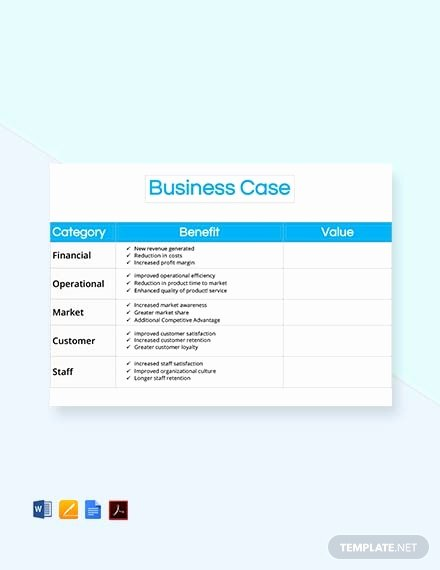 Business Case Template Word Luxury Free E Page Business Case Template Download 73 Notes