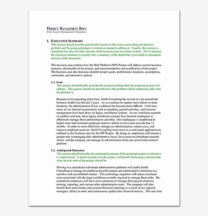 Business Case Template Word New Business Case Template 9 Simple formats for Word