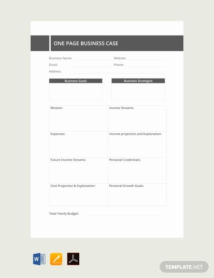 Business Case Template Word New Free E Page Business Case Template Pdf Word