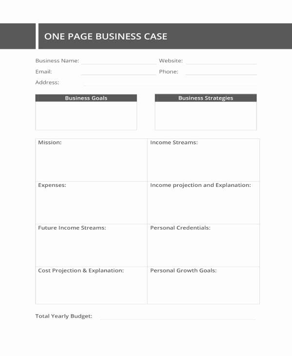 Business Case Template Word Unique 13 Business Case Templates Pdf Doc