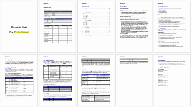 Business Case Template Word Unique Business Case Templates to Write A Professional Business Case