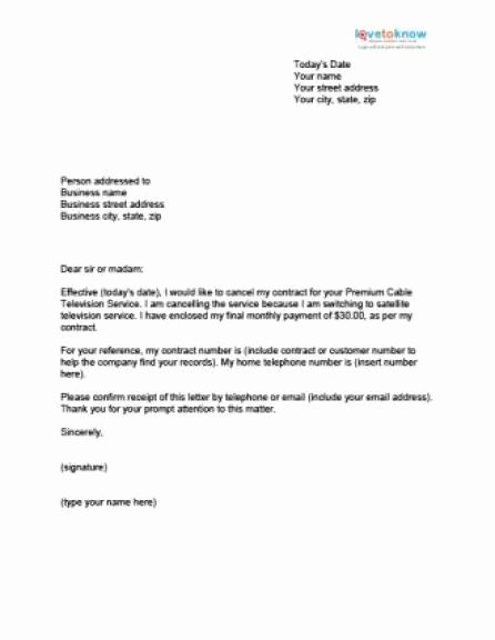 Business Contract Termination Letter Template Inspirational 13 Sample Cancellation Letters Sample Letters Word